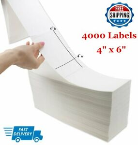 4000 Fanfold 4x6 Direct Thermal Mailing Barcode Label Zebra Usps Free Shipping