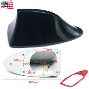 Car Suv Auto Roof Radio Am Fm Signal Shark Fin Aerial Antenna Replacement Black