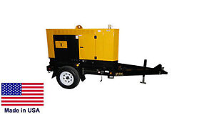 Generator Trailer Mounted Diesel Fired 25 Kva 120 240 Volts 1 Phase
