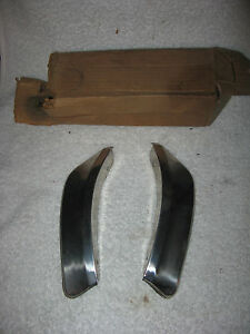 Nos Mopar 1963 64 Plymouth Rear Stone Deflectors