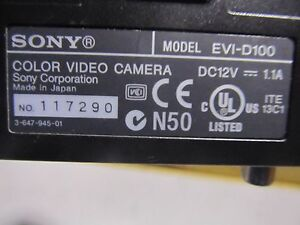 Oem sony Color Video Camera Model no evi d100 W power Adapter