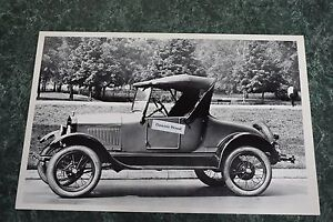 12 By 18 Black White Picture 1926 1927 Ford Model T Roadster Side View