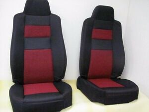 2006 09 Original Ford Ranger Fx4 Oem Black With Red Insert Seat Covers