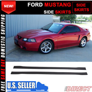 For 99 04 Ford Mustang Side Skirts Extensions Splitters Pp