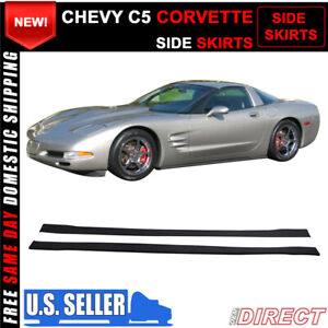 For 97 04 Chevy C5 Corvette Side Skirts Extensions Splitters Pp