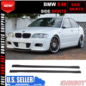 For 99 04 Bmw E46 325i Side Skirts Extensions Splitters Pp