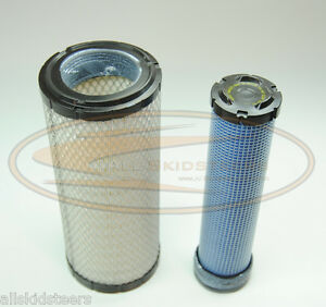Bobcat Excavator Engine Air Filter Kit 337 341 435 6666375 6666376 Inner Outer