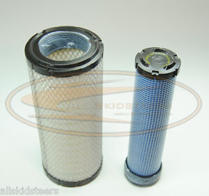 Case Skid Steer Engine Air Filter Kit 1840 1845c Inner Outer