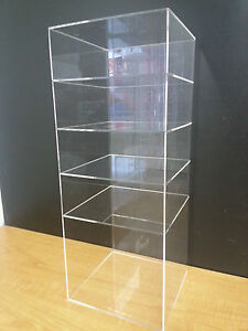Acrylic Showcase Shelves Display 9 X 9 X 23