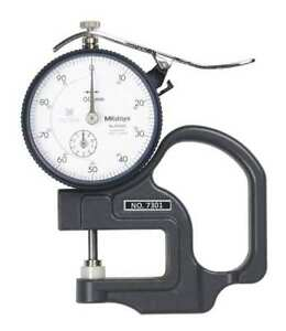 Mitutoyo 7301 Dial Thickness Gage flat 10mm X 0 01mm
