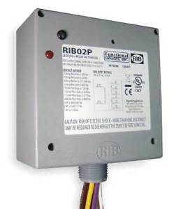 Enclosed Pre wired Relay 20a 300vac dpdt Functional Devices Inc Rib Rib02p