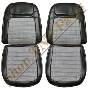 Camaro Seat Covers Front Bucket Deluxe Houndstooth 1969 Chevrolet Ss In Stock