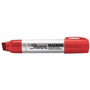 Sharpie Permanent Marker Oversized Chisel Tip Red Pk12 44002