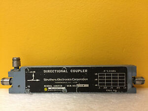 Struthers 108038 0 5 To 1 Ghz 10 Db Coupling Type N f Directional Coupler