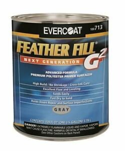 Evercoat 713 Feather Fill G2 Polyester Primer Surfacer Gray Gallon