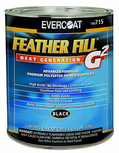 Evercoat 715 Feather Fill G2 Polyester Primer Surfacer black Gallon