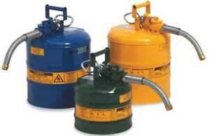 2 Gal Blue Galvanized Steel Type Ii Safety Can For Kerosene Justrite 7220320