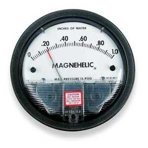 Dwyer Magnehelic Pressure Gauge 1 In To 0 To 1 In H2o