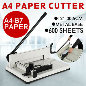 12 A4 Paper Cutters Trimmers Guillotines A4 b7 600 Sheets Metal Base Commercial
