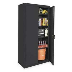 Storage Cabinet black 72 In H 36 In W Zoro Select 1uez6