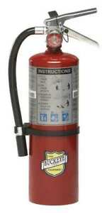 Fire Extinguisher 3a 40b c Dry Chemical 5 Lb Metal Valve Buckeye 10914