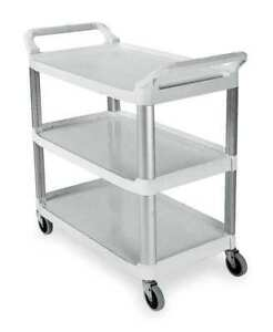 Utility Cart 300 Lb Load Cap Pe Rubbermaid Fg409100owht