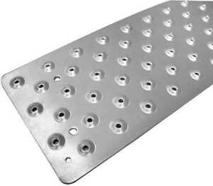 Stair Tread Cover silver 48in W alum Handi Ramp Nst103748sl0