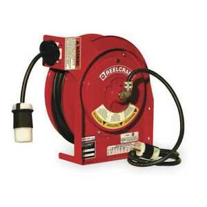 Reelcraft L 4545 123 3a Retractable Cord Reel With 45 Ft Cord 1 outlet 12 3
