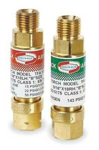 Flashback Arrestor regulator oxy fuel Uniweld Rfaa