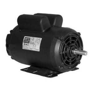 Weg 00636os1xcd182 4y Air Compressor Motor 6 5 Hp 3510rpm 240v 182 4y