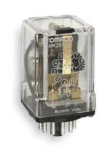 Omron Mk2kpac120 Dual Coil Latching Relay 11pin Dpdt 120v