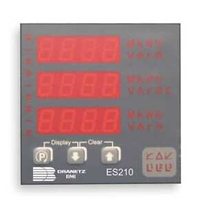 Dranetz Es2105a Digital Panel Meter Power And Energy