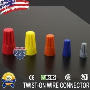 Variety Of Twist on Wire Gard Connectors Conical Nuts Barrel Screw Rohs Ul Lot