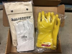 Gk011y10 Salisbury Insulating Gloves Protectors Kit Sz 10 Yellow 11