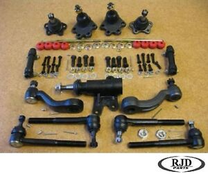 Chevy 2wd Ball Joints Tie Rod End Pitman Sleeve Links Front 14 Pcs