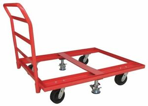 48j093 Pallet Dolly 48x48 Floor Lock Handle