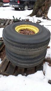Pair Of Firestone Tires Off John Deere 4430 Size 11 0 16 On Wheels