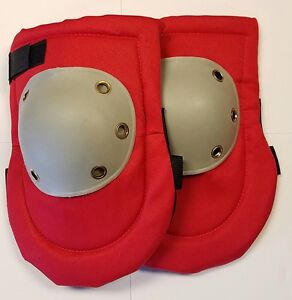 Knee Pads Industrial Carpentry Construction Hard Cap Foam Padded Red Pair Safety