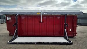 Storm top Roll Off Container Cover Stand Alone Version model St 8000 sa