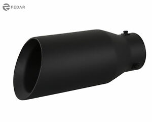 3 5 Inch Inlet 5 Od 12 Long Dual Wall Slant Angle Cut Truck Exhaust Tip Pipe