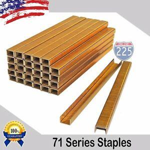 40 000 71 Series Galvanized 22 Gauge Upholstery Staples 3 8 Crown 1 2 Length