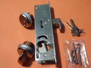 Hi rise Mortice Lock Body With 2 Brass Cylinders 304 Hook Bolt 1 1 8 New
