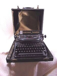 Vintage Underwood Noiseless 77 Portable Typewriter Hard Case 1930 S Working