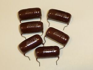 22 Mfd Uf 200 V Polyester Mylar Film Caps Capacitors Condensers Pc Leads Usa