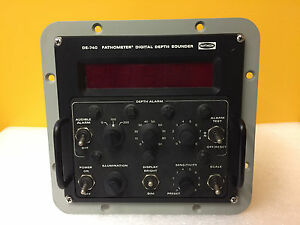 Raytheon DE-740/AN/S0N-15  40 kHz  115/230VAC  Fathometer Digital Depth Sounder
