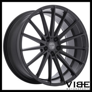 20 Sporza Pentagon Black Concave Wheels Rims Fits Jaguar Xkr