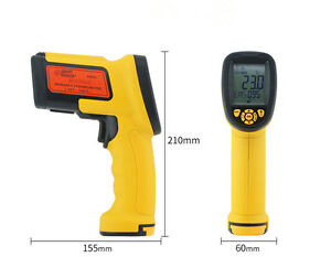 Industrial Digital Ir Infrared Temperature Laser Gun Thermometer 50 1650degrees