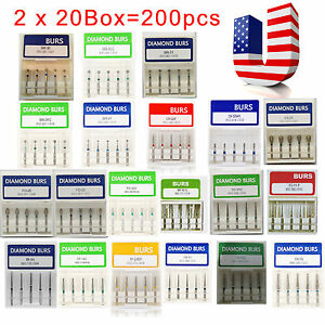 Usa 200pcs Dental Diamond Burs For High Speed Handpiece Medium Fg 1 6mm W3