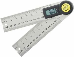 5 Digital Interior Exterior Angle Finder Stainless Steel Ruler Standard Metric