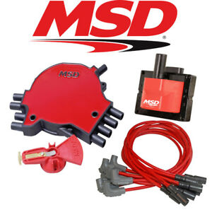 Msd Ignition Tuneup Kit 1996 Chevy Corvette C4 5 7l Lt1 Cap Rotor Coil Wires